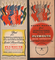 2nd International Model Plane Contest, Program/Entry Blank - 1948