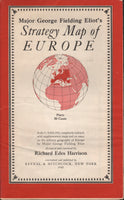 Major George Fielding Eliot's Strategy Map of EUROPE - 1940