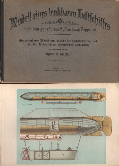 Very Early Zeppelin Paper Model Book - circa 1900