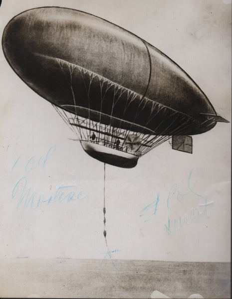 Early Airship Photo Image - 1919