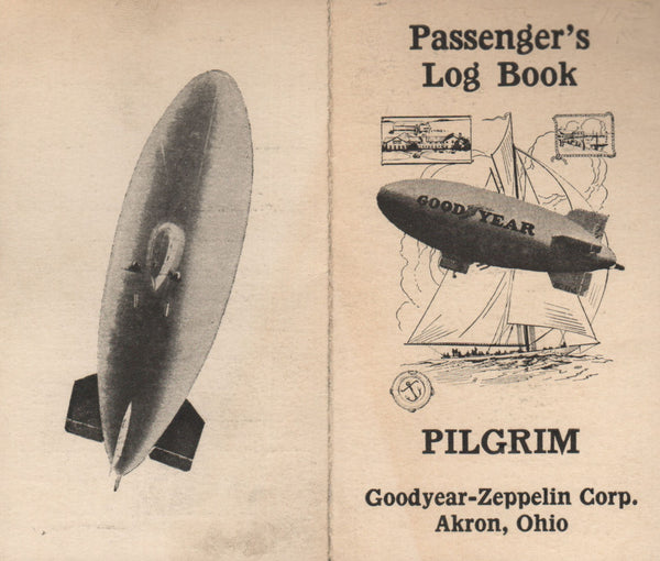 "Goodyear ""Pilgrim"" Passenger Log, Unused - 1925"