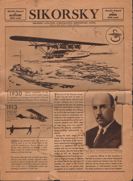 Sikorsky Newspaper - circa 1930