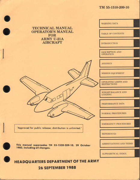 U-21 Pilot Flight Manual - 1988