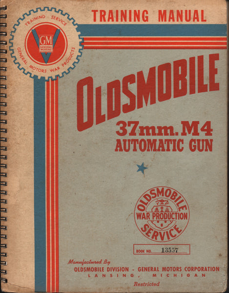 37mm M4 Automatic Gun Training Manual - circa 1942