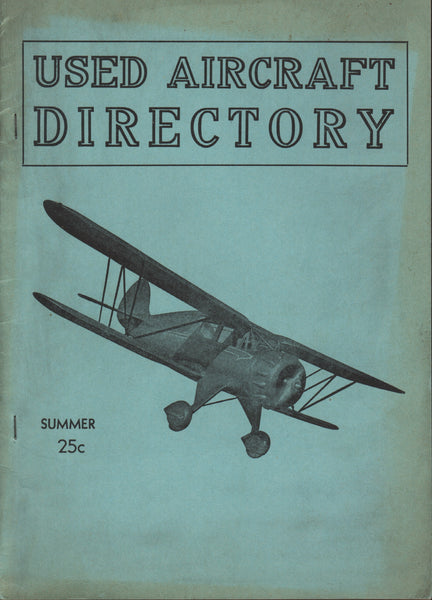 Used Aircraft Directory - circa late 1930's