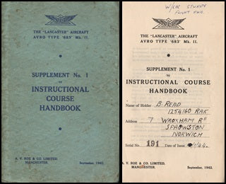 WWII Lancaster Instructional Manual - 1942
