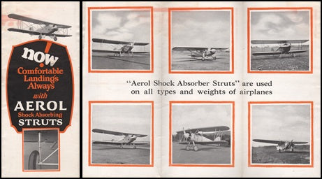 Aerol Strut Sales Flyer Circa 1930 Early Aeronautica