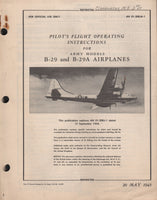 WWII B-29 Flight Manual - 1945