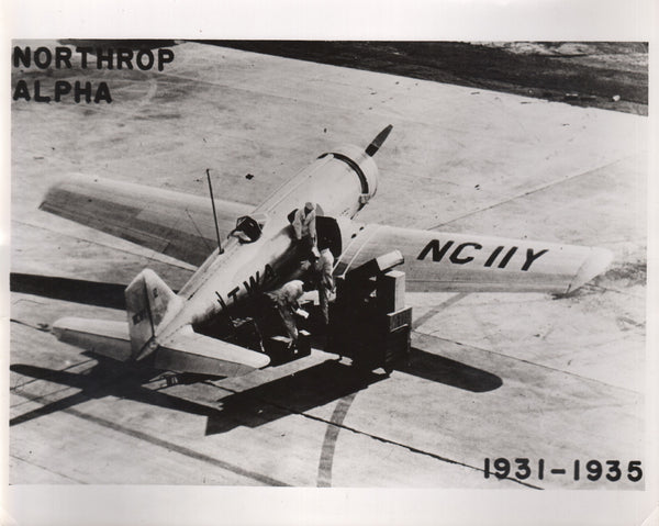 Northrup Alpha TWA Photo - circa 1936
