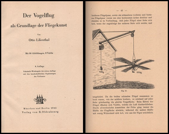Lilienthal Reprint of 1889 Edition - 1943