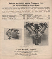 Logan Aviation Company Catalog - circa 1920