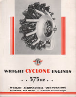 Wright Cyclone 575 H.P. Engine Flyer - circa 1930