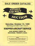 Antique Aircraft Auction Catalog - 1990