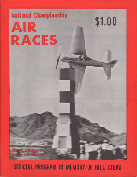 Reno National Championship Air Race Program - 1966