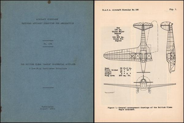 "Klemm ""Eagle"" Commercial Airplane - NACA Circular No. 195 - 1934"