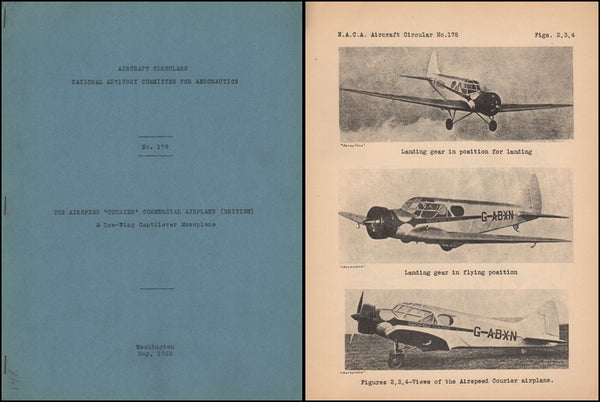 "Airspeed ""Courier"" Commercial Airplane - NACA Circular No. 178 - 1933"