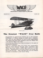 Original Waco Bulletin No. 2 - 1927