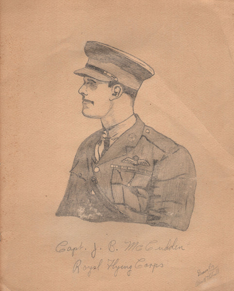 Original Pencil Portrait - WWI Ace McCudden