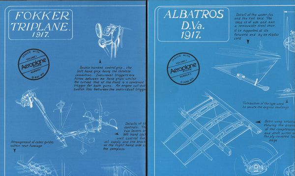 Two WWI Aeroplane Blueprints - 1973