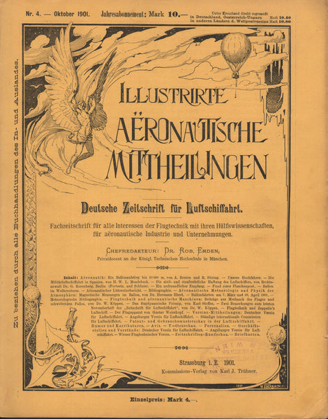 Early German Aviation Publication; Gustav Whitehead Article - 1901