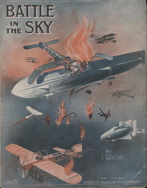 Sheet Music, WWI Whimsical Illustration - 1915