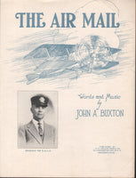 Sheet Music, Early Air Mail Theme - 1925