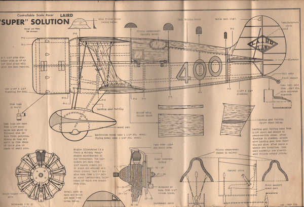 "Original Laird ""Super Solution"" Plans - 2 sheets, 1947"