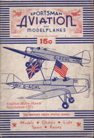 Sportsman Aviation and Model Planes - 6 issues 1934