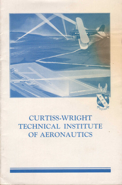 Curtiss-Wright Technical Institute of Aeronautics Prospectus -1934