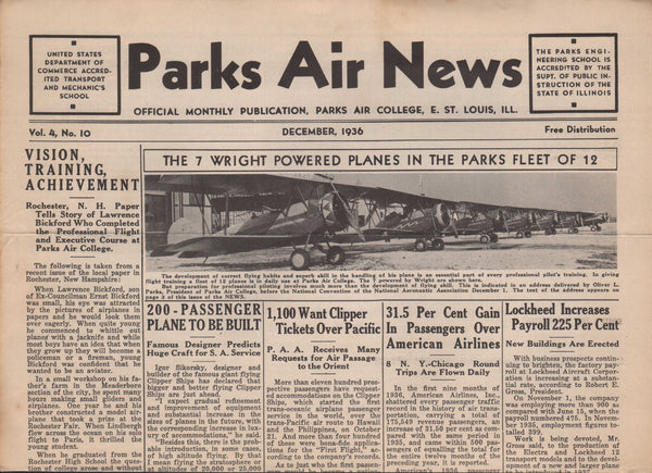 Park Air News, 17 issues - 1935 to 1938