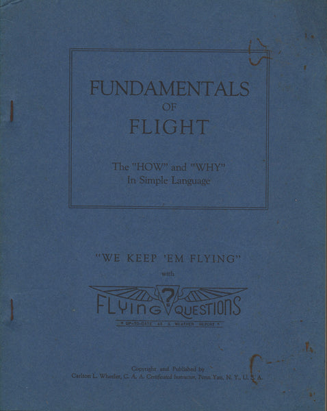 Fundamentals of Flight Textbook - 1945