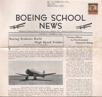 Boeing School News, 16 issues - 1936 to 1938