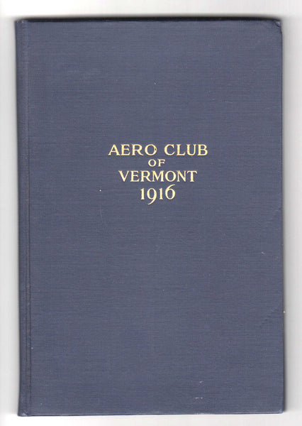 Aero Club of Vermont Inaugural Book - 1916