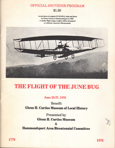 Official Souvenir Program, The Flight of the June Bug - 1976