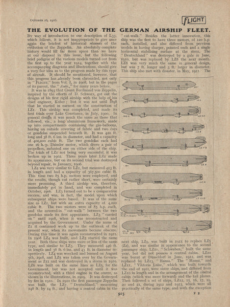 Flight Magazine Special Issue on Evolution of German Airships - 1915