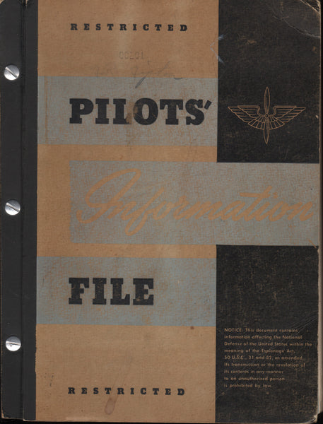 WWII Pilot Information File (PIF) - 1943 to 1945