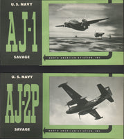 North American Aviation Promotional Flyers, two for the  AJ-1 and AJ-2P Savages - circa 1950's