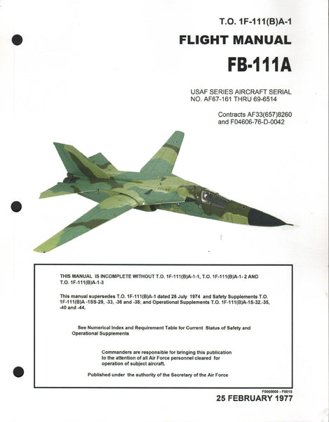 FB-111A Flight Manual - 1977 (reprinted 2015)