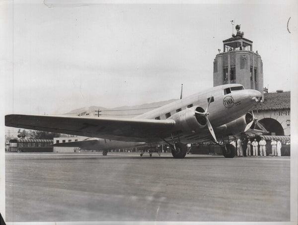 Original Press Photo,  TWA Christens New Giant Airliner - 1933