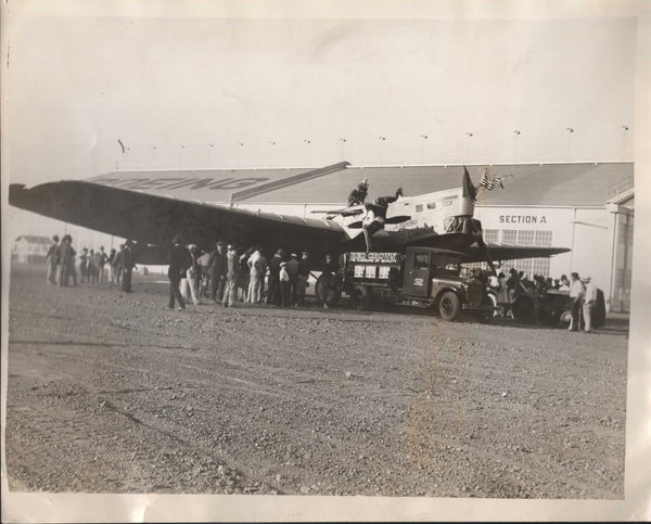 Original Press Photo, Large Soviet Plane Refueled at Boeing Field - 1929