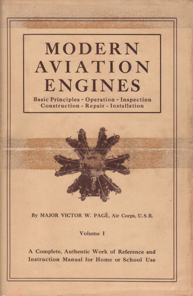 Modern Aviation Engines by Page', Vol 1 and 2 - 1929