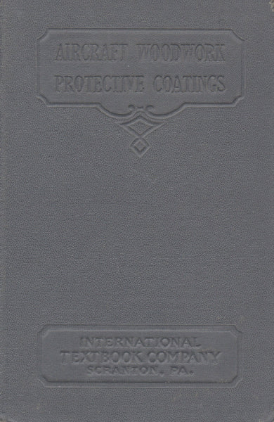 Aircraft Woodwork/Protective Coatings - 1938/39