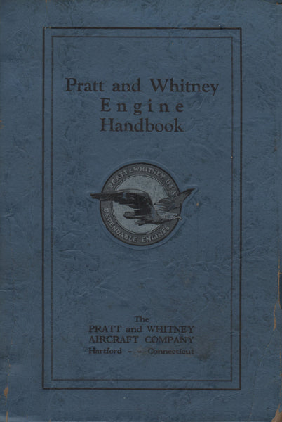 Pratt & Whitney Engine Handbook - 1929