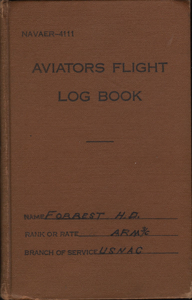 WWII PBY Aviation Radioman Log Book - 1944/45