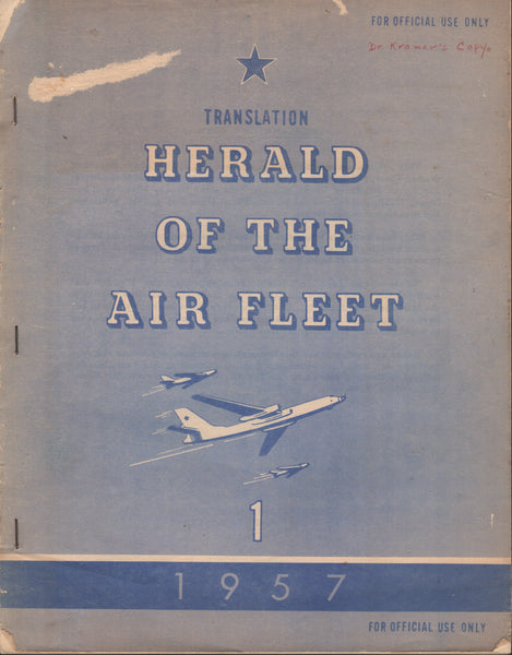 USAF Translation of Russian Air Force Magazine - 1957