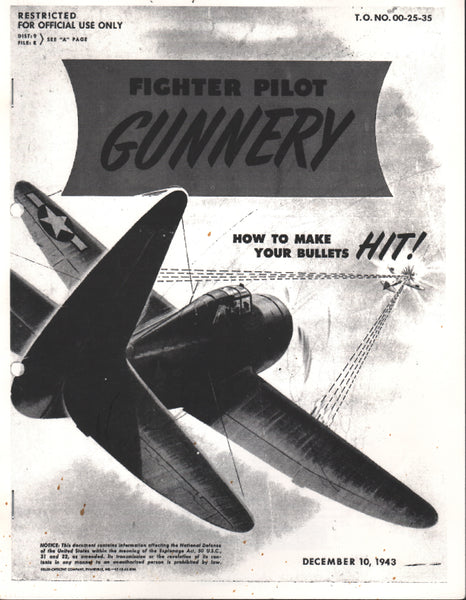 Fighter Pilot Gunnery, WWII Facsimile Reprint