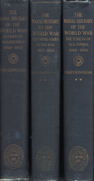 Frothingham - The Naval History of the World War, 3 vol set - 1925