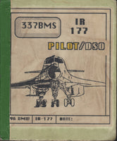 Six Original Flown B-1 Bomber Route Maps - 1986/87