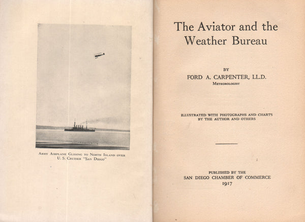 Carpenter - The Aviator and the Weather Bureau, signed - 1917