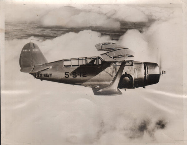 Original Press Photo of the Curtiss SBC-3 - 1937